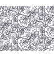 seamless pattern with graphic rose flowers vector image vector image
