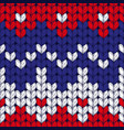 Seamless three colors christmas knitted pattern