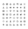 set black web icons in pixel art vector image