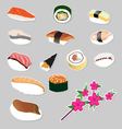 Set icon Japanese food