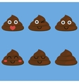 set of cut poop vector image vector image