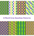 Set of Mardi gras patterns vector image