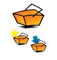 shopping baskets vector image vector image