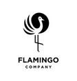 simple flamingo logo vector image vector image