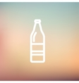 Soda bottle thin line icon vector image