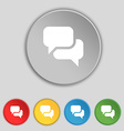 Speech bubble Think cloud icon sign Symbol on five vector image