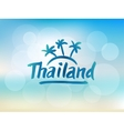 Thailand hand drawn lettering vector image vector image