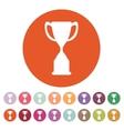The goblet icon Achievement symbol Flat vector image vector image