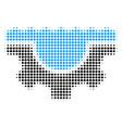 water service gear halftone icon vector image