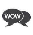 wow internet acronym chat bubble vector image