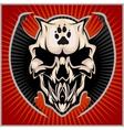 Zombi Apocalypse - emblem with skull vector image vector image