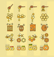 outline style beekeeping vector image
