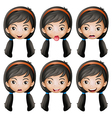 A face of a girl vector | Price: 1 Credit (USD $1)
