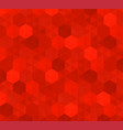 abstract background of red hexagons pattern of vector image vector image