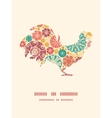 abstract decorative circles rooster vector image