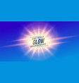 abstract glowing light rays on blue background vector image vector image