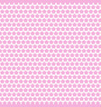 abstract pink white star seamless pattern vector image vector image