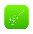 acoustic guitar icon green vector image vector image