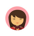 asian business woman profile icon chinese