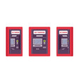 atm built in a wall red color vector image vector image