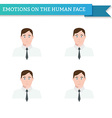 Avatar man in tie emotions vector image