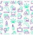 bad habits seamless pattern with thin line icons vector image vector image