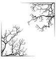 branch borders halloween black and white print vector image