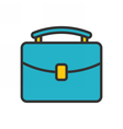 Briefcase outline icon vector image vector image