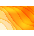 Bright orange waves abstract background vector image vector image