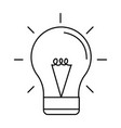 bulb light icon black and white vector image vector image