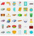 cargo icons set cartoon style vector image vector image