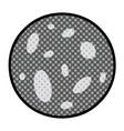cartoon doodle a full moon vector image vector image