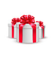 christmas new year holiday present box gift vector image vector image