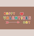 colorful happy valentines day card sticker vector image