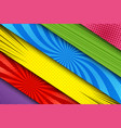 comic colorful diagonal banners vector image vector image