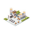 concrete factory machinery manufactory production vector image vector image
