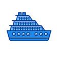 cruise ship line icon vector image vector image
