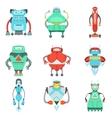 Different Cute Fantastic Robots Characters vector image