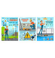electrician profession electric work tools vector image vector image