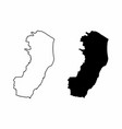 espirito santo state maps vector image vector image