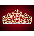 feminine decorative tiara crown with jewels vector image vector image