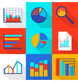 financial expert icons set flat style vector image vector image