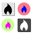 fire flame flat icon vector image vector image