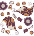 floral paisley gentle seamless pattern it is vector image vector image