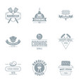 gastronomy logo set simple style vector image