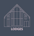 glamping lodges accomodation vector image vector image
