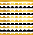 gold black stripes scallops stripes vector image