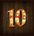 golden number 10 vector image