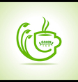 green tea cup icon vector image vector image