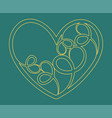 hand drawn valentine hearts decorative design vector image vector image
